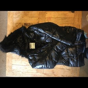 Justice black puffer jacket